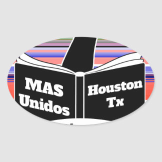 MAS Unidos HTX Serape Oval Sticker