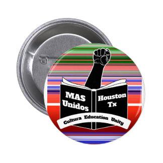 MAS Unidos HTX Serape Pinback Button