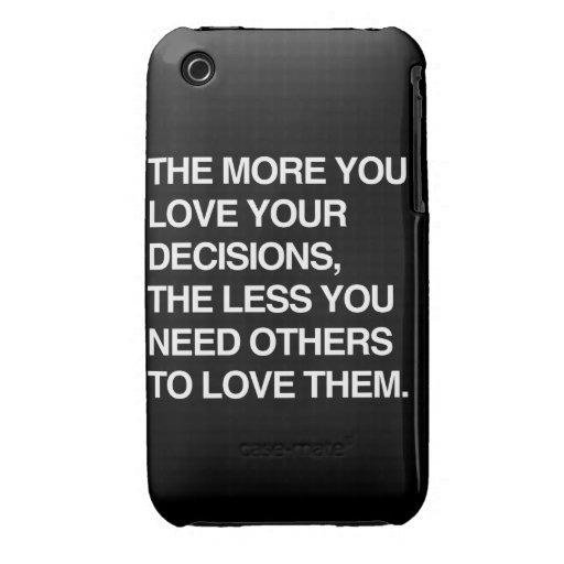 MÁS USTED AMA SUS DECISIONES iPhone 3 Case-Mate CÁRCASAS