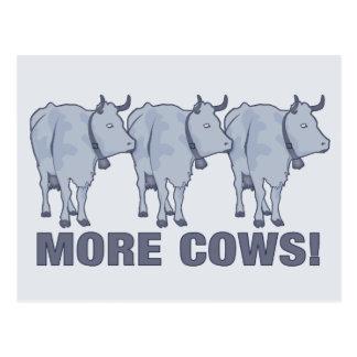 ¡Más vacas! Postal