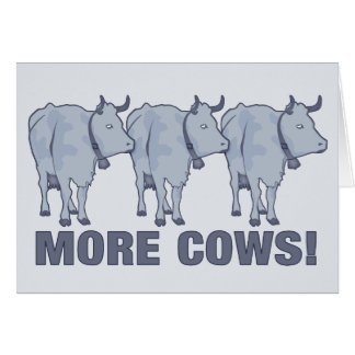 ¡Más vacas! Tarjeta De Felicitación