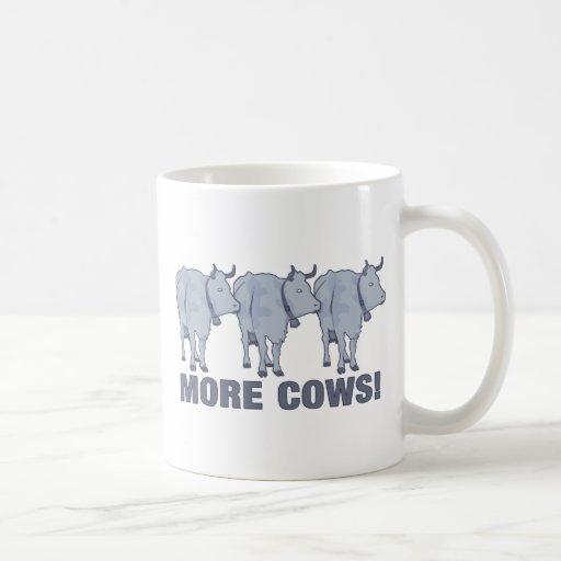 ¡Más vacas! Taza Básica Blanca