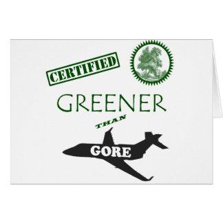 Más verde certificada que Gore Tarjeta De Felicitación
