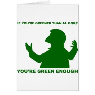 Más verde que Gore Tarjeta De Felicitación