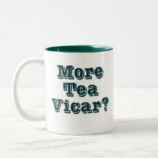 Más vicario del té taza dos tonos