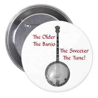 Más viejo es el botón del banjo pin