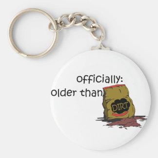 Más viejo que la suciedad llaveros