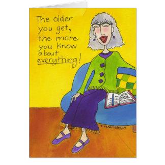Más viejo usted consigue felicitaciones