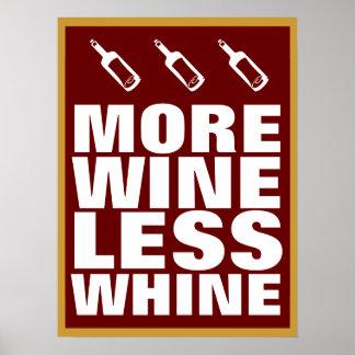 Más vino póster
