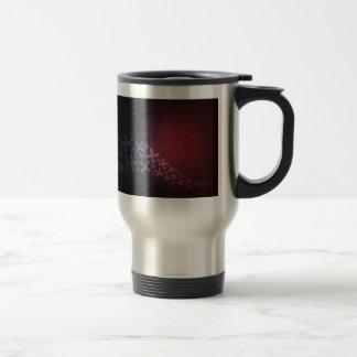 Más y x negros rojos abstractos taza térmica