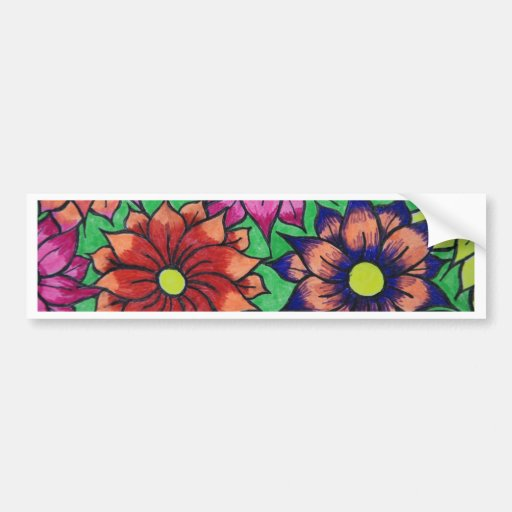 masa de la flor etiqueta de parachoque