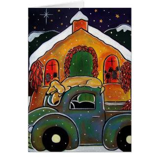 Masa en enero Oliverio del navidad Tarjeta De Felicitación