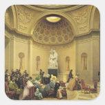 Masa en la capilla expiatoria, 1830-48 pegatina cuadrada