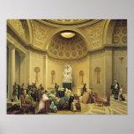 Masa en la capilla expiatoria, 1830-48 póster