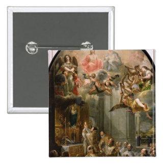 Masa para la orden de Trinitarians, 1666 Pin Cuadrado