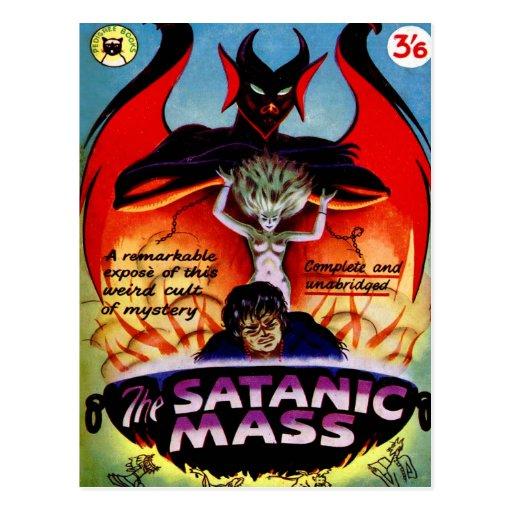 Masa satánica del vintage del kitsch de la pulpa tarjeta postal
