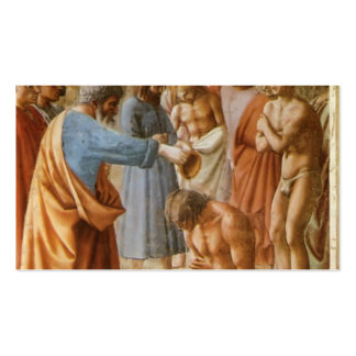 Masaccio Baptism of the Neophytes Business Card Templates
