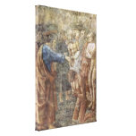 Masaccio - The baptism of a convert Stretched Canvas Prints