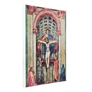 Masaccio - Trinity ??????: De Drie-Eenheid Gallery Wrap Canvas
