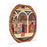 Masaccio - visit to the nursery Tondo Gallery Wrap Canvas