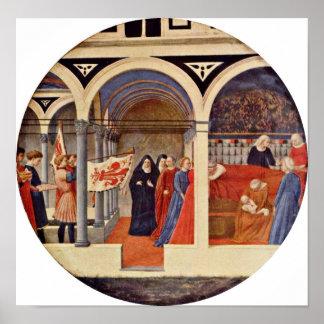 Masaccio - visit to the nursery Tondo Posters