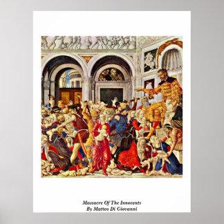 Masacre de los Innocents de Matteo Di Juan Impresiones