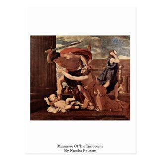 Masacre de los Innocents de Nicolás Poussin Tarjeta Postal