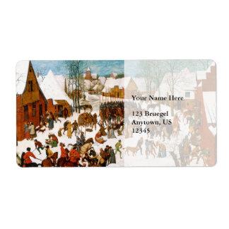 Masacre de los Innocents de Pieter Bruegel Etiquetas De Envío
