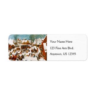 Masacre de los Innocents de Pieter Bruegel Etiqueta De Remite