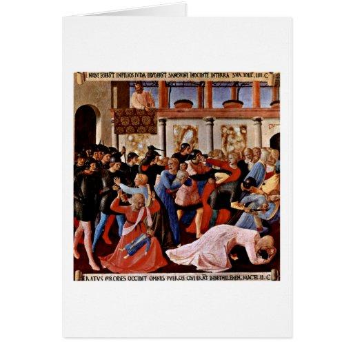 Masacre de los Innocents por Fra Angelico Tarjeta De Felicitación