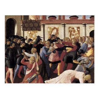 Masacre del Fra Angelico- de los Innocents Postal