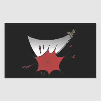 Masacre del machete pegatina rectangular