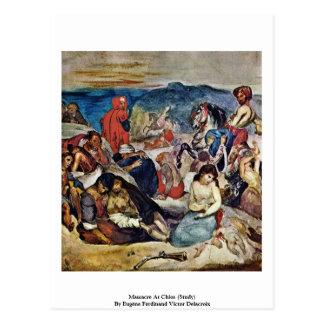 Masacre en Quíos (estudio) Postales