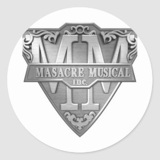 MASACRE_MUSICAL CLASSIC ROUND STICKER