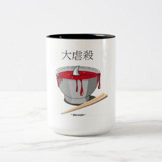 masacre taza de café de dos colores