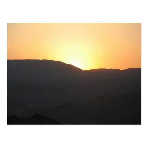 Masada Sunrise - Customized Postcard