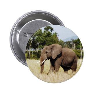 Masai botón de la insignia de Mara, Kenia del elef Pin Redondo De 2 Pulgadas