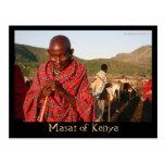 Masai de la postal de Kenia