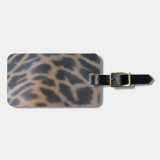 masai giraffe skin print bag tag
