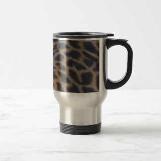 masai giraffe skin print travel mug