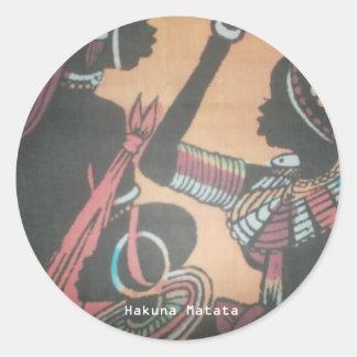 MASAI Hakuna Matata.JPG Etiqueta Redonda