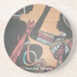 MASAI Hakuna Matata.JPG Sandstone Coaster