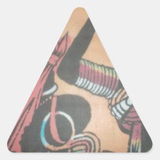 MASAI Hakuna Matata.JPG Triangle Sticker