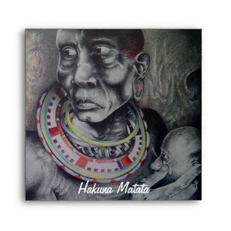 Masai Hakuna Matata Square Invitation Envelope