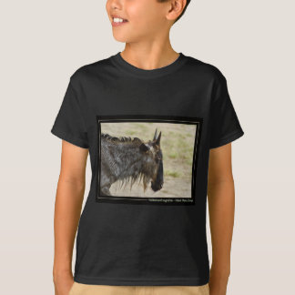 Masai Mara crossing, Kenya - Gnu or Wildebeest pos T-Shirt