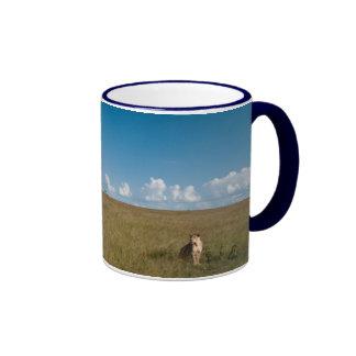 Masai Mara Lion Ringer Coffee Mug