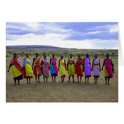 MASAI WOMEN IN KENYA AFRICA GREETING CARD