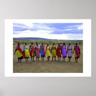 MASAI WOMEN IN KENYA AFRICA POSTER