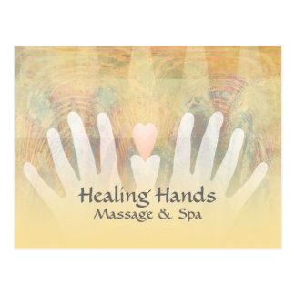Masaje curativo y balneario de las manos tarjetas postales