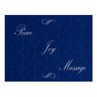 Masaje de la alegría de la paz tarjetas postales